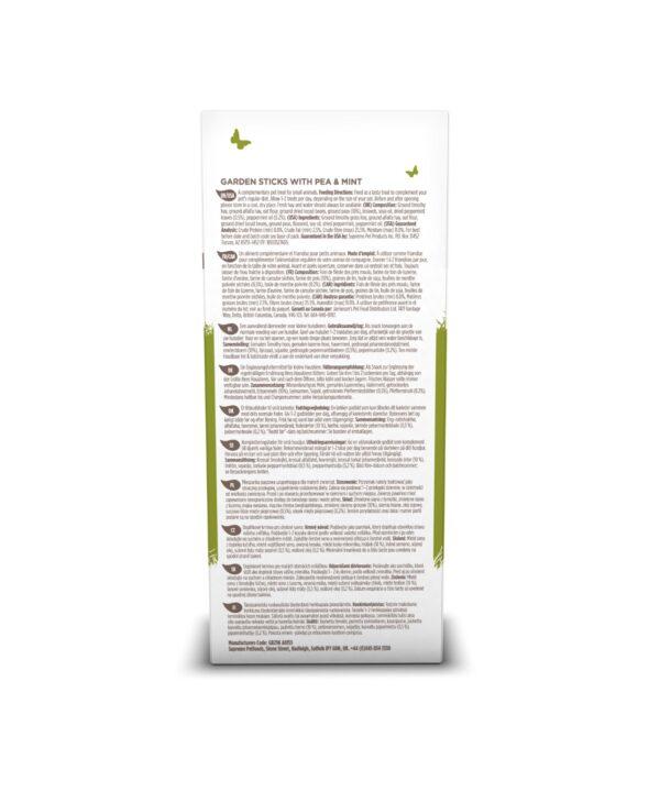 Batoane naturale din mazare si menta, Garden Sticks, Selective Naturals, 60 g ingrediente