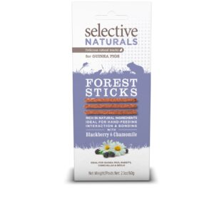 Batoane naturale din mure si musetel, Forest Sticks, Selective Naturals, 60 g
