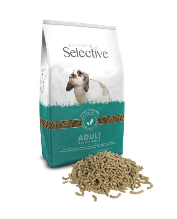 Hrana pentru iepuri bogata in fibre si probiotice, Science Selective, Adult, 1,5 kg