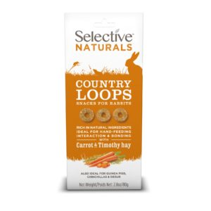Inele naturale din morcov si fan, Country Loops, Selective Naturals, 80 g