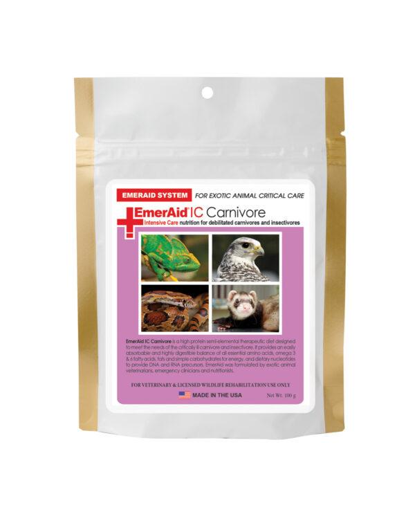 Dietă terapeutică completă pentru carnivore, EmerAid Intensive Care Carnivore, 100 g